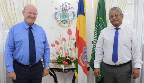 Seychelles President Receives Mr Alain St Ange at State House